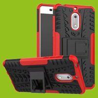 Para Nokia 3.1 5.2 Pulgadas Carcasa Híbrida 2 Piezas Exterior Funda Roja