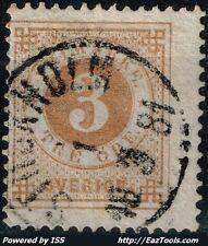SUEDE ARMOIRIES N° 16 AVEC BELLE OBLITERATION DU 18/03/1881
