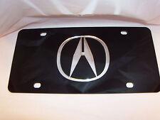 Acura License Plate Black/Silver NEW!!