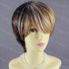 Wiwigs Short Straight Brown & Copper Gold Mix Ladies Wig