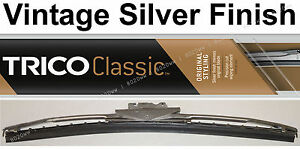 """Classic Wiper Blade 11"""" - Antique Vintage Styling - Silver Finish - Trico 33-111"""