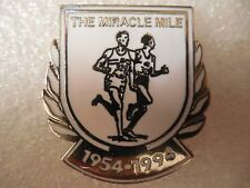 The Miracle Mile Pin 1954-1994 ~ Silver Tone Metal and White Enamel