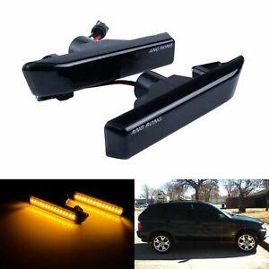 Pour BMW E36 M3 X5 E53 Noire Clignotant Répétiteur LED Latéral indicateur Jaune