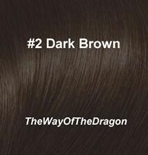 Extensions de cheveux bruns foncés raides pour femme