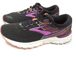 Brooks Adrenaline GTS 19 Running Shoes for Women, Size 10 - black/purple/orange