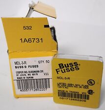 (50) Bussmann MDL-3-R Fuses (10 sets of 5 fuses)