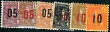 INDOCHINE 1912 Yvert 59-64 * SATZ (F4360