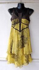 Sass & Bide Sexy Yellow Silk Dress w Contrast Sz 36 Eu/ XS/ 6 AU Rare Sold Out!