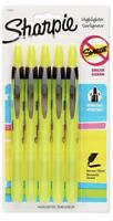Sharpie 1740822 Accent Retractable Highlighter, Chisel, Fluorescent Yellow, 5 PK