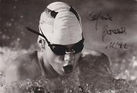Sylvia GERASCH - DDR, Schwimmen, Gold WM 1986, Original-Autogramm!