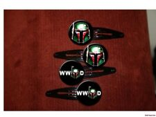 BOBA FETT Star Wars  set of 4 hair clips barrettes