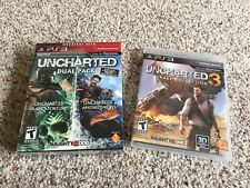 Uncharted Dual Pack & 3  - NEW FACTORY SEALED - (Sony PlayStation 3, 2011) 1 2 3