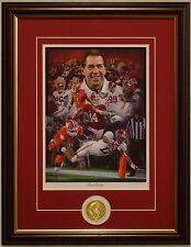 "Alabama football 2015 National Championship ""Sweet 16"" framed print & coin Moore"