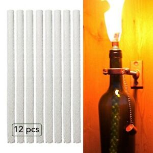 12X Fiberglass Tiki Torch Wick Oil Lamp Wick Wine Bottle Lantern Practical