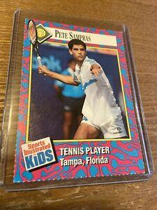 1993 Sports Illustrated Kids PETE SAMPRAS RC #128 Tennis Star Trading Card (x)
