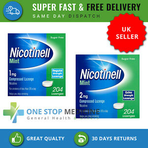 Nicotinell Nicotine Lozenge 1mg - 2mg Mint flavour Sugar Free 204 Pieces