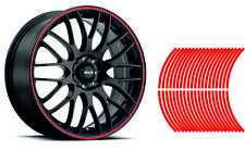 Wheel Striping Stripes Stickers Decals for Motorbike or Car *9mm* Red