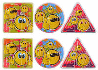 12 Smiley Maze Puzzles - Pinata Toy Loot/Party Bag Fillers Childrens/Kids Happy