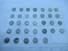 More details for collection of 33 victorian silver threepence 3d all different including scarce c