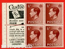 Sg. 459a. Pb5 (1). 1½d Brown. A fine Mounted Mint booklet pane of 6. Per B48607