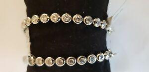XXL-20 cm Stainless Steel Zirconia Glitz Bracelet Massive clearance Save 40%