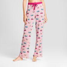 NEW Womens Nite Nite Munki Munki Christmas Campers Jersey Pajama Pants Pink M