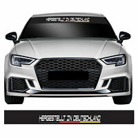 Made in Germany Flag Euro Dub Modified Car Windscreen Sunstrip Banner Sticker