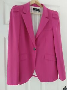 Zara Pink Puff Blazer Size L
