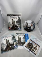 Assassin's Creed III PS3 (Sony PlayStation 3, 2012) Game, Manual Free P&p