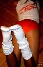 Slouch to Knee Socks Hooters Sexy Running School Girl Halloween Costume uniform