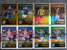 2016-17 PANINI DONRUSS SOCCER 8 CARD ACCOMPLISHMENTS LOT WITH HOLOS AND GOLDS