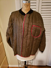 Vintage 1960's Ice King Mens Insulated Under Suit Hunting Brownish Breen Red