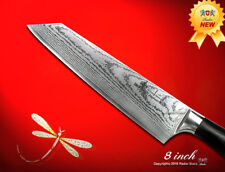 Japanese Damascus Kiritsuke 8.0 inch Chef's Knife Wood Handle Kitchen Cutlery