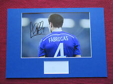 CHELSEA CESC FABREGAS GENUINE & PERSONALLY SIGNED A3 MOUNTED PHOTO DISPLAY - COA