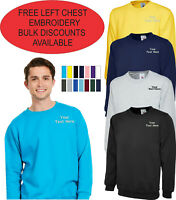 Personalised Embroidered Sweatshirt, Cheapest Uneek UC203 Casual Workwear Jumper