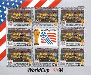 "St. VINCENT - MNH ""Football - WorldCup USA 94 - COLOMBIA"" Souvenir Sheet !!!"