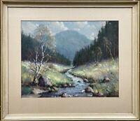 Garstin Cox (1892-1933) Landschaft mit Bachlauf und Birken 59 x 68 cm