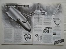 6/1987 PUB MBB HERMES ARIANE 5 SPACELAB ESPACE SPACE ORIGINAL FRENCH AD
