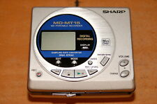 Sharp MD-MT 15 S Portable Mini Disk Recorder for Parts or Repairs (B)