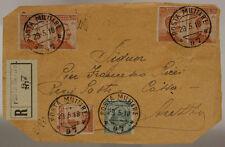 POSTA MILITARE 97 FRAMMENTO RACCOMANDATA AFFRANCATO 29.5.1918  #XP443I