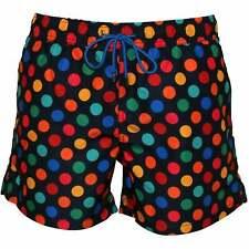 Happy Socks Pantalones cortos de baño para hombre Big Dot, Navy/multi