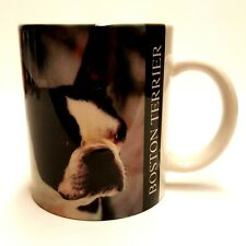 Vintage Xpres Boston Terrier Mug Cup Photo by Barbara Augello Dated 1994 Euc