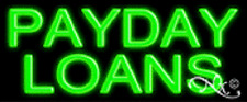 """NEW """"PAYDAY LOANS"""" 24x10 REAL NEON SIGN W/CUSTOM OPTIONS 12127"""