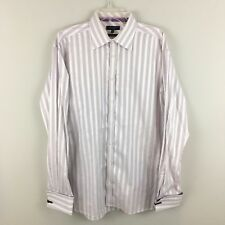 c7994d8c65e5d6 Ted Baker London French Cuff Dress Shirt 17 34 25 Tailored Fit Purple Stripe