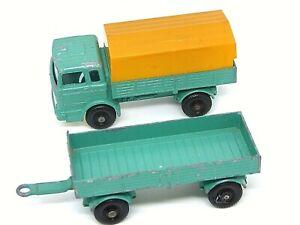 Matchbox Lesney No.1e & 2d  Mercedes Truck & Trailer