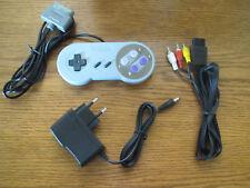 Av-cable cinch + fuente de alimentación + controlador para Super Nintendo SNES * nuevo *