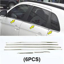 For Mitsubishi ASX Chrome Window Frame Surround Sill Trim Molding Cover Garnish