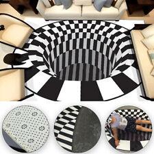3D Teppich Whirlpool Halluzination Vorleger Pad Rutschfeste Fußmatte Rechteckige