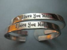 I love you more, I love you most, two bracelets…