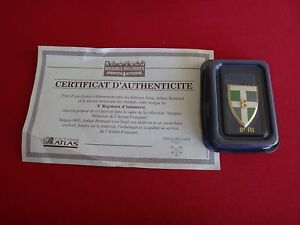 French Military 8e RI Insignia, Arthus-Bertrand Certificate Authenticity + Box